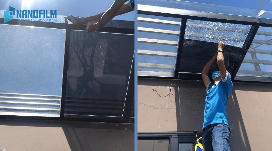 Dán phim cách nhiệt cho mái kính sân thượng