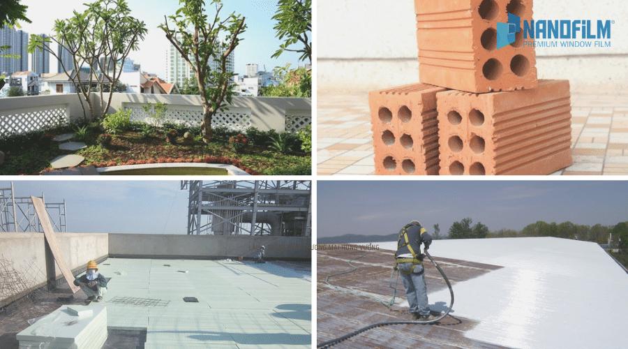 Các phương pháp chống nóng cho sàn mái bê tông