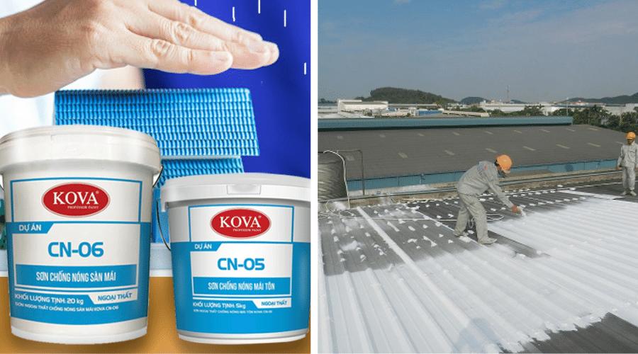 Sớn cách nhiệt chống nóng cho mái tôn