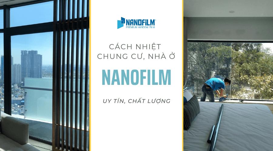 Kính cách nhiệt chung cư Nanofilm uy tín, chất lượng