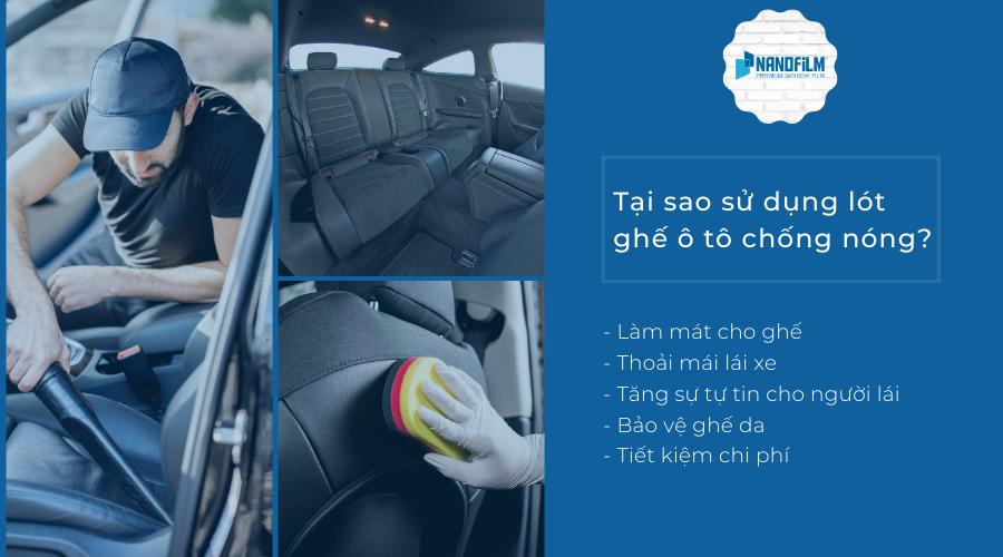 Tại sao nên lót ghế ô tô chống nóng?