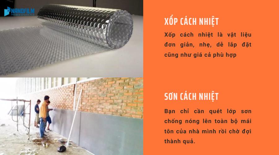 Sơn cách nhiệt và xốp cách nhiệt là 2 vật liệu chống nóng hiệu quả