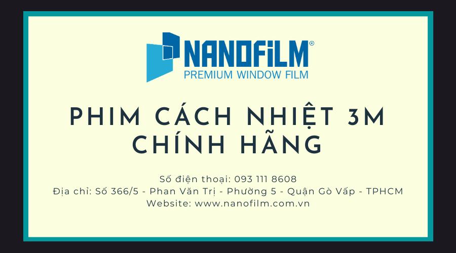 Chuyên gia phim cách nhiệt 3M chính hãng Nanofilm