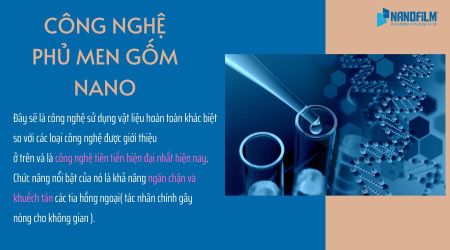 công nghệ phủ men gốm nano