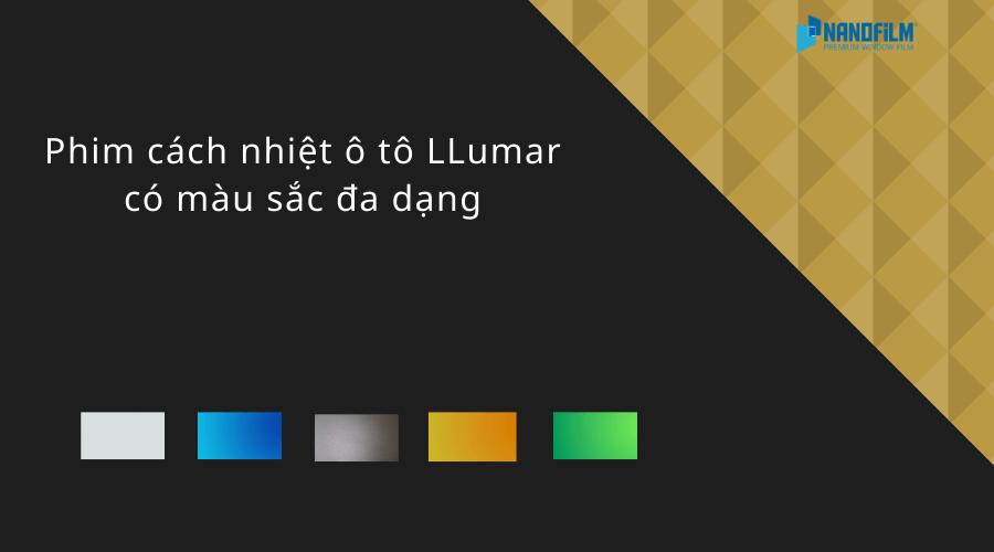 màu sắc của phim cách nhiệt ô tô LLumar