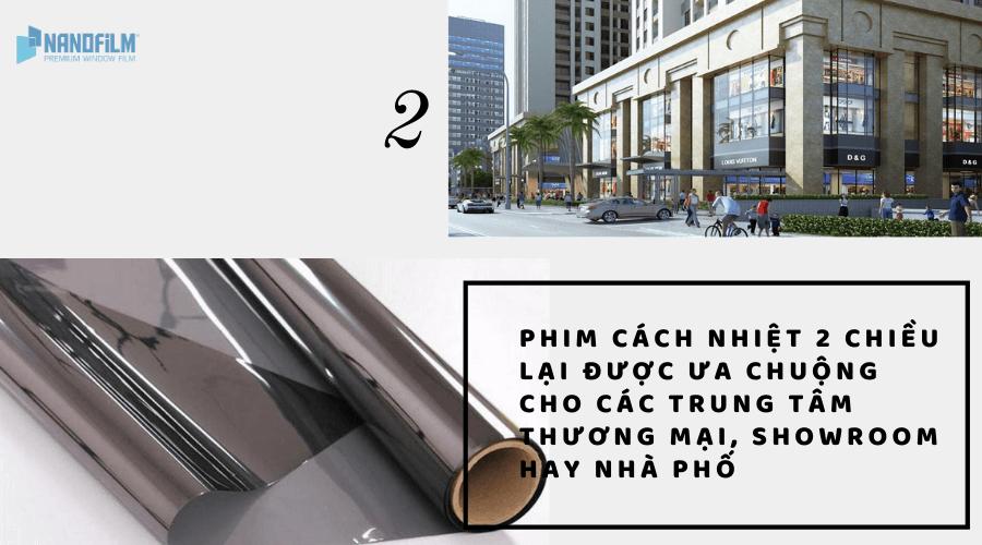 Ứng dụng của phim cách nhiệt nhà kính TPHCM 2 chiều