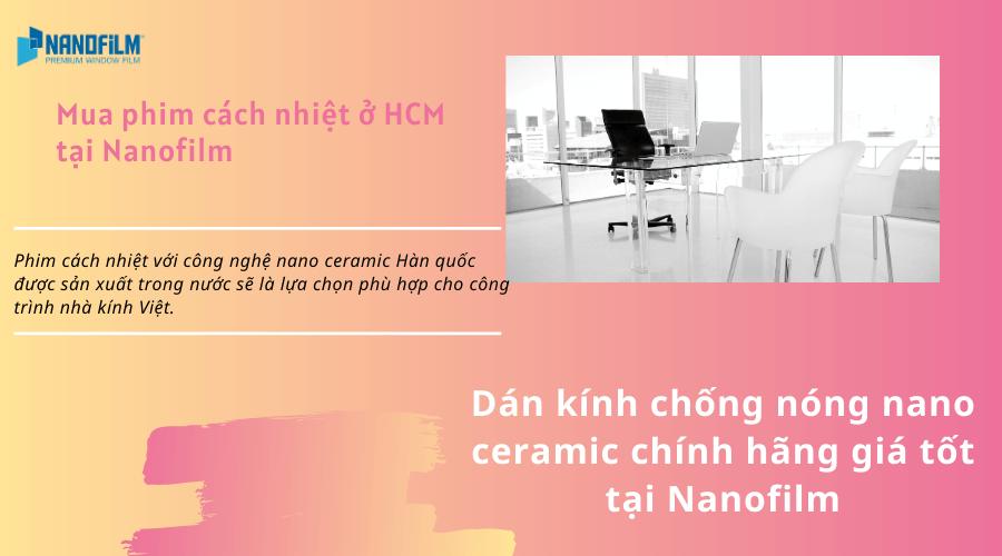 Dán kính chống nóng nano ceramic chính hãng giá tốt tại nanofilm
