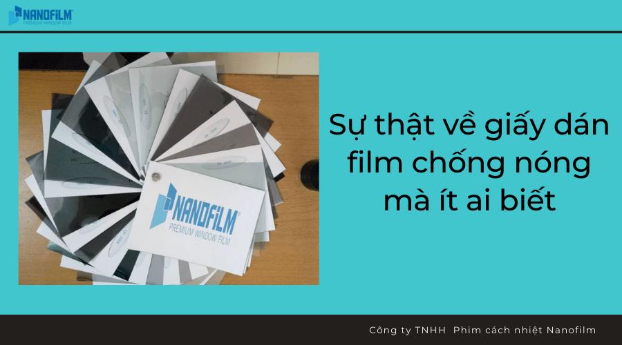Sự thật về giấy dán film chống nóng mà ít ai biết
