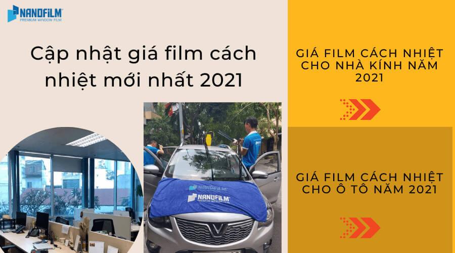 Cập nhật giá film cách nhiệt mới nhất 2021