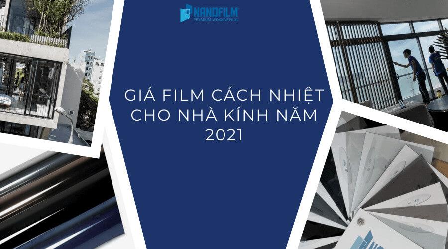 Cập nhật giá film cách nhiệt nhà kính mới nhất 2021