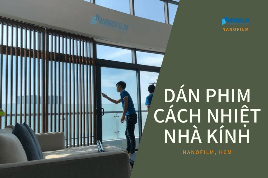 Dán phim cách nhiệt - cách chống nắng cho nhà kính
