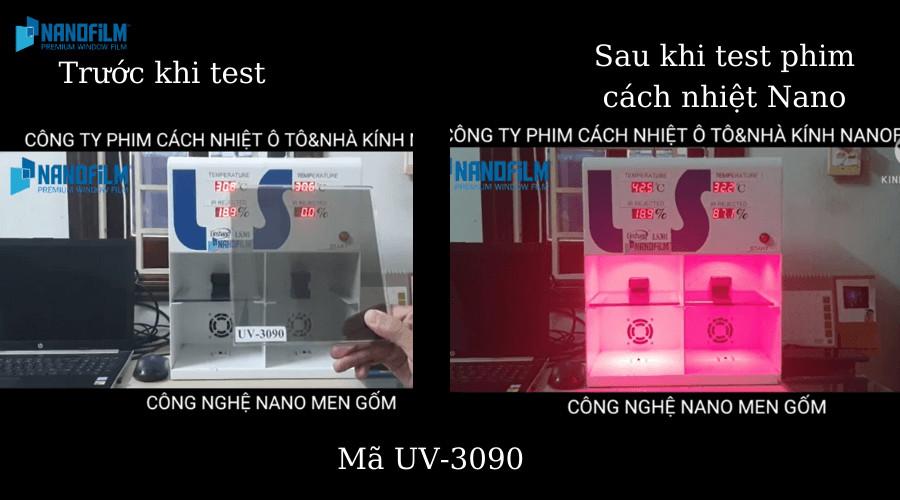 Test phim cách nhiệt Nanofilm