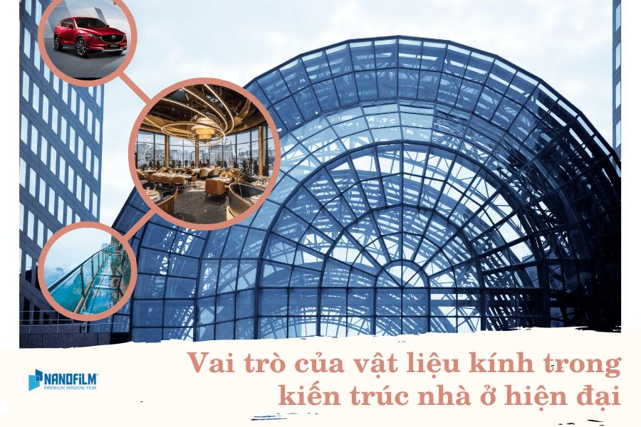 Vai trò của vật liệu kính trong kiến trúc nhà ở hiện đại