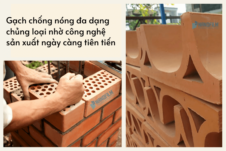 Gạch chống nóng giúp giảm nhiệt công trình tối ưu
