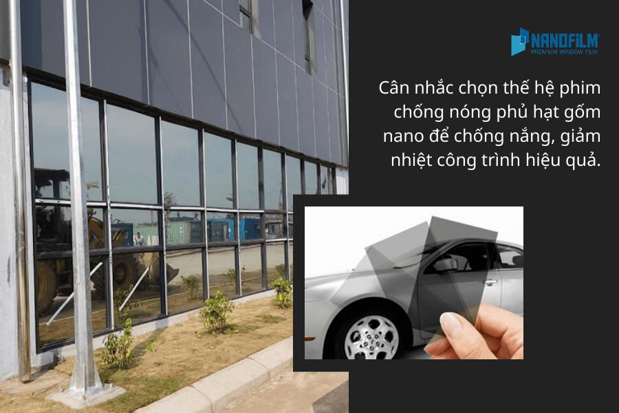 Cân nhắc chọn thế hệ phim chống nóng phủ hạt gốm nano