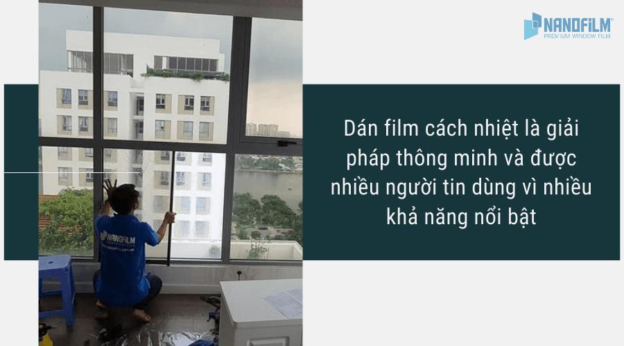 Dán film cách nhiệt là giải pháp thông minh