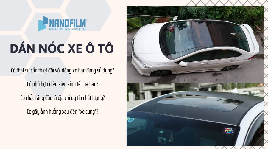 Dán nóc xe ô tô có lợi hay hại?