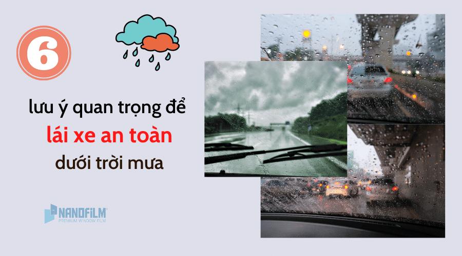 Lưu ý lái xe an toàn dưới trời mưa