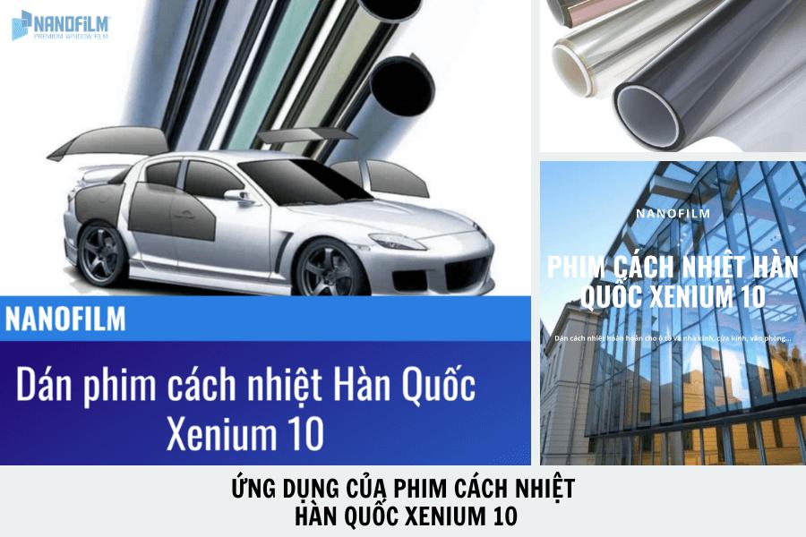 Ứng dụng của phim cách nhiệt Hàn Quốc Xenium 10