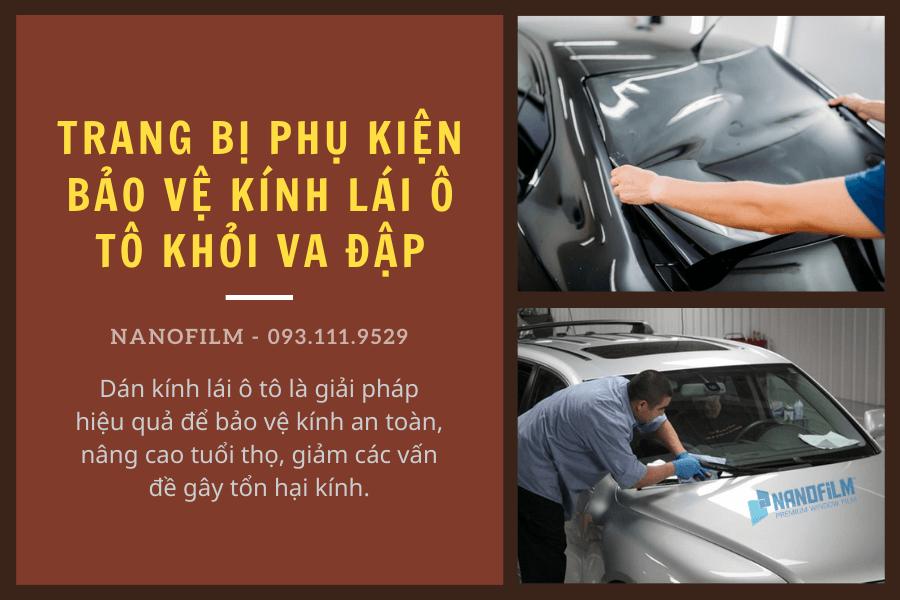 Trang bị phụ kiện bảo vệ kính lái ô tô khỏi va đập