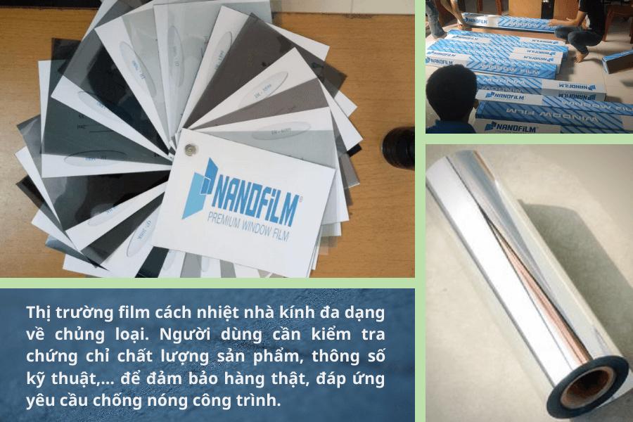 Những chứng chỉ cần biết khi mua film cách nhiệt cho nhà kính