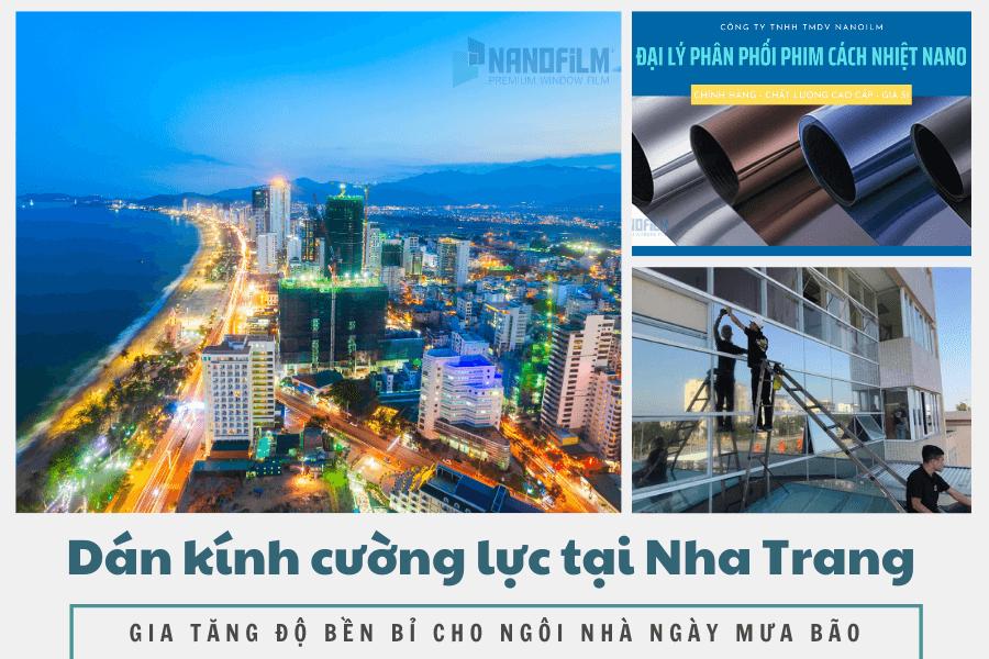 Dán kính cường lực tại Nha Trang mùa mưa, gia tăng độ bền cho ngôi nhà