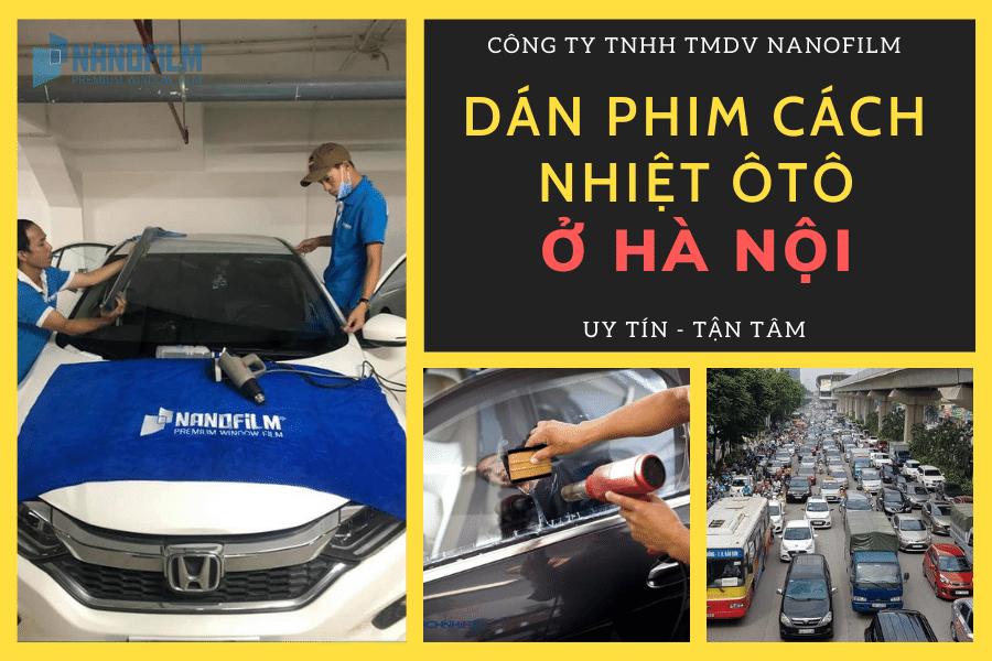 dán phim cách nhiệt ô tô ở Hà Nội