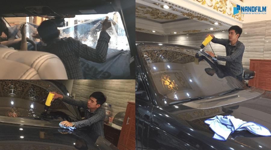 dán phim cách nhiệt ô tô xe range rover