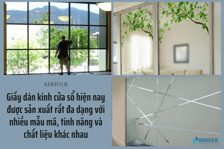 Loại giấy dán kính cửa sổ nào được sử dụng nhiều nhất?