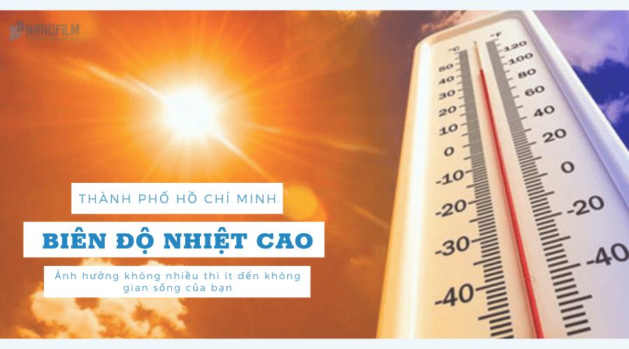 Biên độ nhiệt TPHCM cao