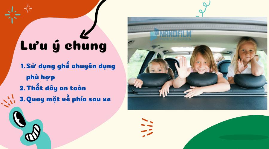 Lưu ý khi vị trí an toàn cho trẻ trên xe ô tô