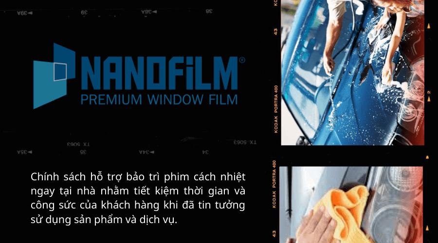 Bảo hành các mặt hàng film dán cùng dịch vụ dán phim cách nhiệt tại Nanofilm