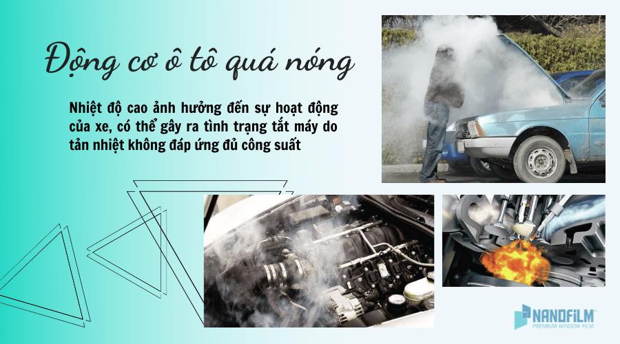 Động cơ ô tô sẽ như thế nào trong thời tiết quá nóng?