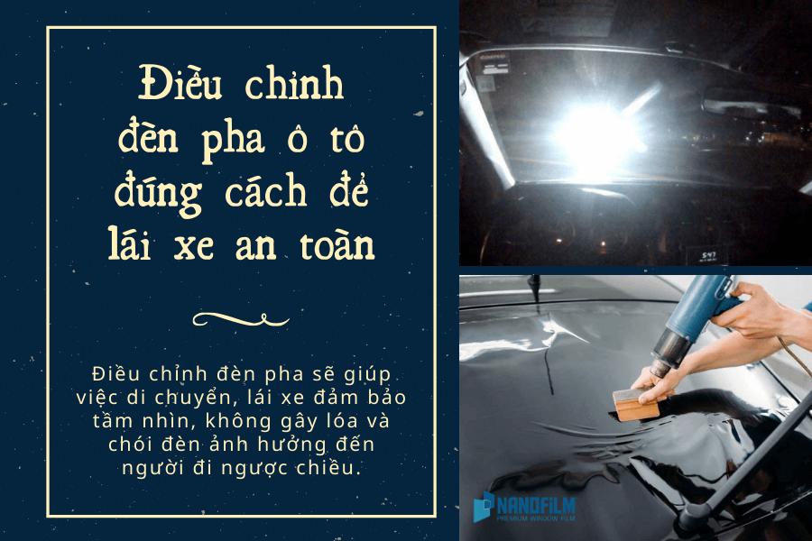 Hướng dẫn điều chỉnh đèn pha ô tô đúng cách để lái xe an toàn