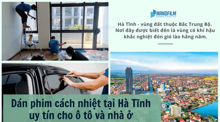 Dán phim cách nhiệt tại Hà Tĩnh uy tín cho ô tô và nhà ở