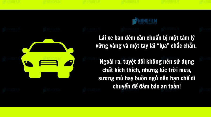 Đảm bảo an toàn khi lái xe ban đêm
