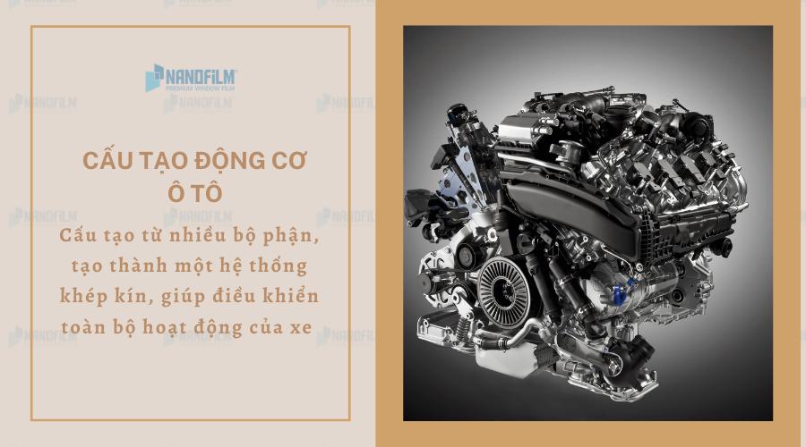 Cấu tạo động cơ ô tô gồm những bộ phận nào?