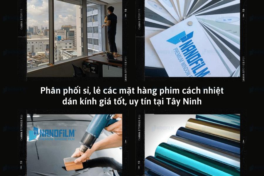Phân phối sỉ, lẻ các mặt hàng phim cách nhiệt dán kính giá tốt, uy tín tại Tây Ninh