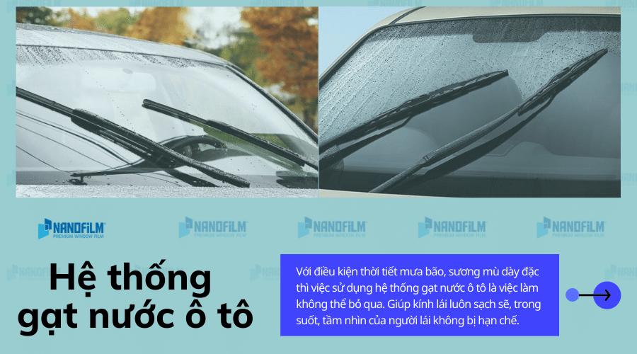 Tìm hiểu cấu tạo và nguyên nhân hư hỏng của hệ thống gạt nước ô tô