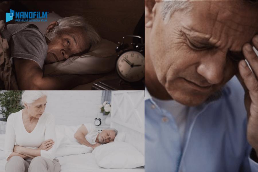 phim cách nhiệt dán kính cửa sổ phòng ngủ người già