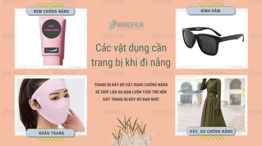 Bạn có trang bị đầy đủ vật dụng chống nắng khi ra đường?
