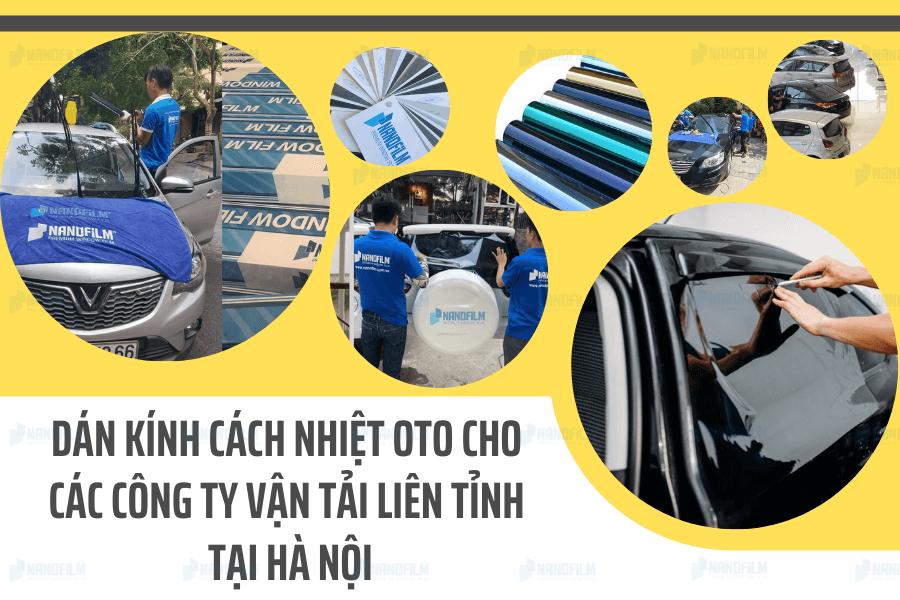 Dán kính cách nhiệt oto cho các công ty vận tải liên tỉnh tại Hà Nội