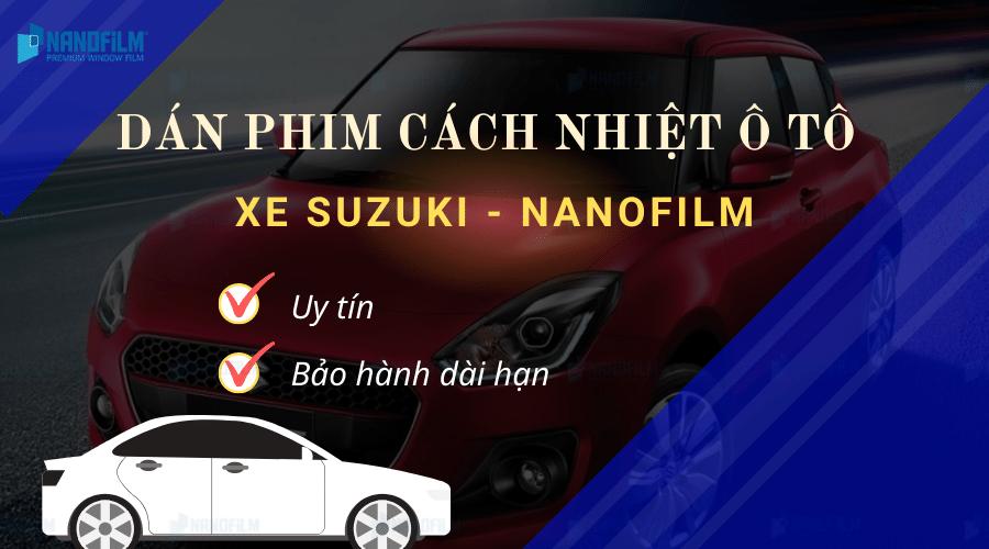 dán phim cách nhiệt ô tô xe Suzuki
