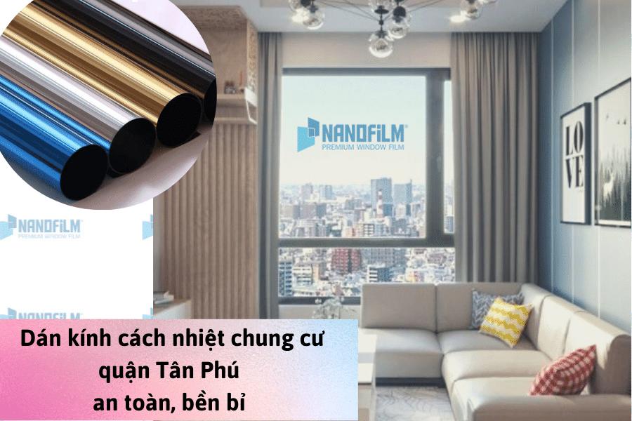 Quy trình dán kính cách nhiệt chung cư quận Tân Phú