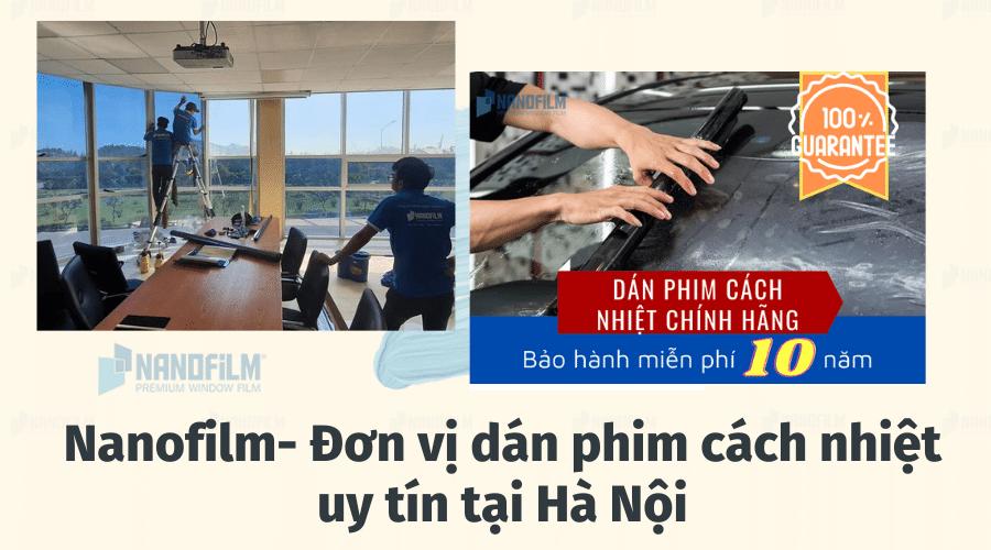 Nanofilm- Đơn vị dán phim cách nhiệt uy tín tại Hà Nội