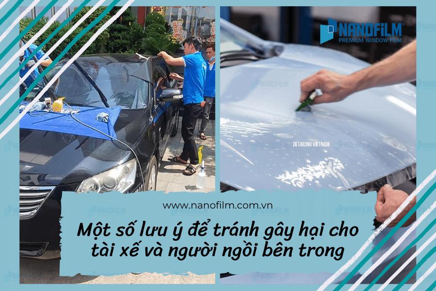 Một số lưu ý để tránh gây hại cho tài xế và người ngồi bên trong