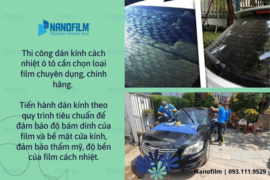 Nguyên tắc dán film cách nhiệt chống nắng cho ô tô