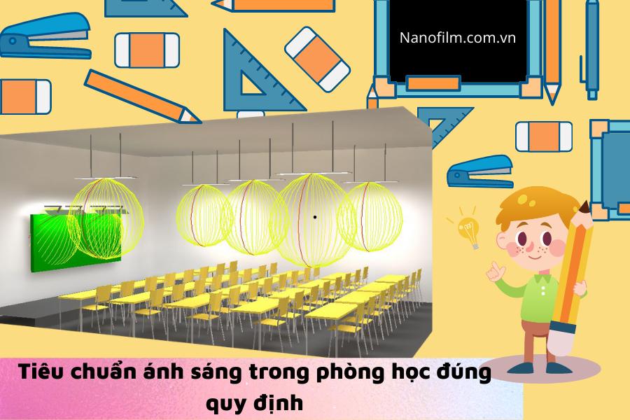tiêu chuẩn ánh sáng trong phòng học