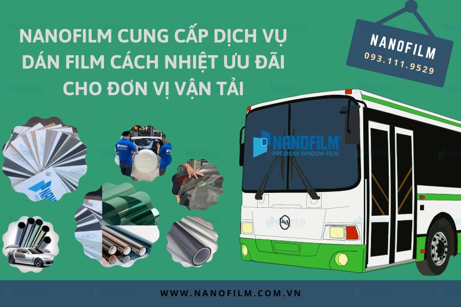 Nanofilm cung cấp dịch vụ dán film cách nhiệt ưu đãi cho đơn vị vận tải