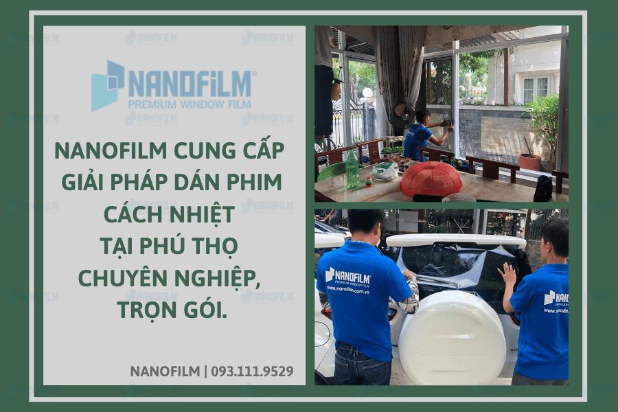 Nanofilm cung cấp giải pháp dán phim cách nhiệt tại Phú Thọ chuyên nghiệp, trọn gói.